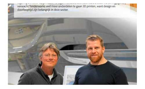 3DPrintMagazine rapportage bij Tenderworks