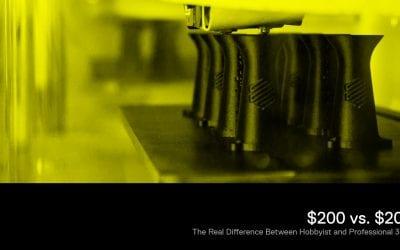 Download E-Book: $ 200 versus $ 20.000: het echte verschil tussen hobbyistische en professionele 3D-printers