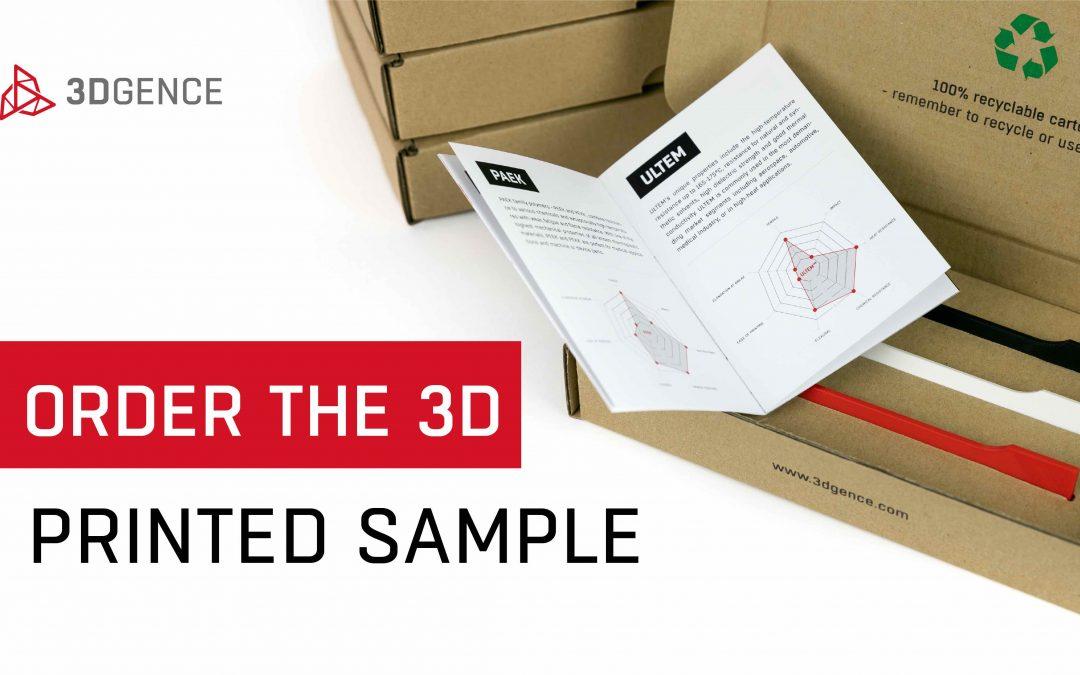 Vraag 3DGence sample part aan